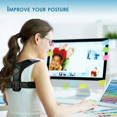 Posture Corrector Adjustable Clavicle Shoulder Upper Back Support Brace Improve