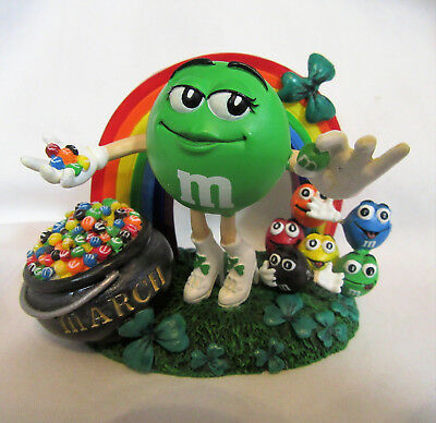 Danbury Mint M&M ~ MARCH ~ St. Patrick's Day Irish Calendar Month Figurine AS IS