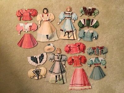 Vtg. Advertising McLaughlin Coffee The Young Ladies Paper Dolls/Costumes Series