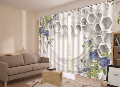 Beautiful Orchid Pane 3D Blockout Photo Curtain Print Curtains Fabric Kid Window