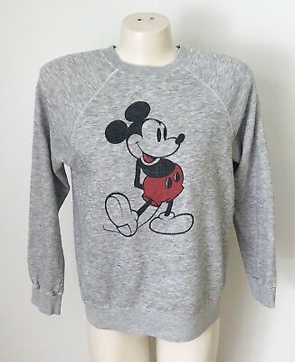 Vintage Mickey Mouse Sweatshirt Disney Casuals? Heathered Gray Grey 80s