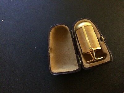 Rare Victorian Seamstress 14k Yellow Gold Thimble With Case Over 7 Grams
