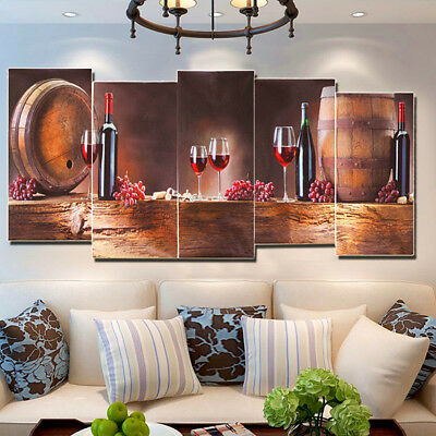 Modern Wine Grape Canvas Print Painting Picture Wall Hanging Decor Unframed