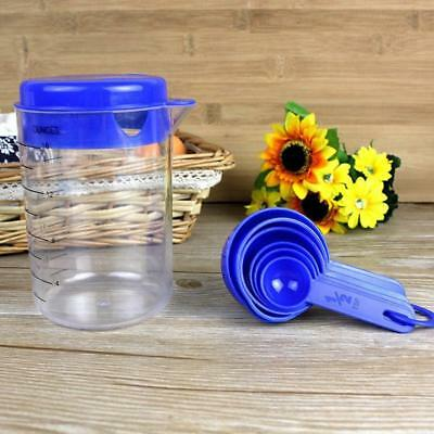 7Pcs Measuring Spoon&Container Set Plastic For Liquid/Dry Ingredients Cup New