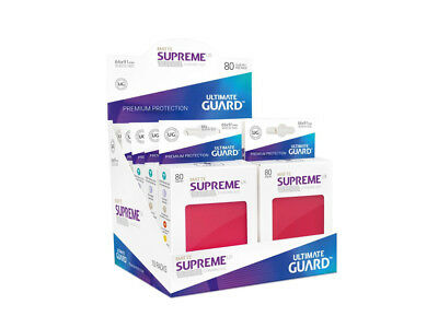 Sleeves Ultimate Guard Supreme UX Sleeves Standard Size Matte Red (80)Accessorie