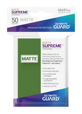 Sleeves Ultimate Guard Supreme UX Sleeves Standard Size Matte Green (80)Accessor