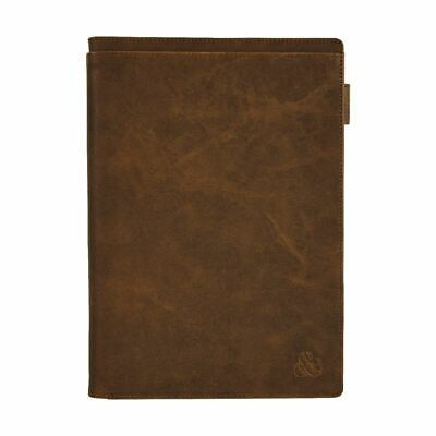 Ampersand B5 Leather Book Cover with Refill 128 Pages Brown