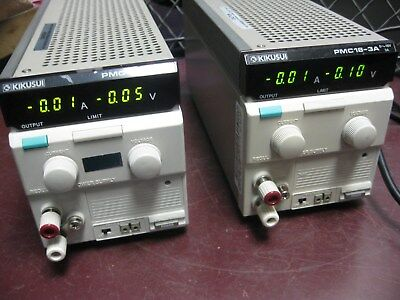 Lot (2) KIKUSUI 0-18V 3A Regulated DC Power Supply PMC18-3A
