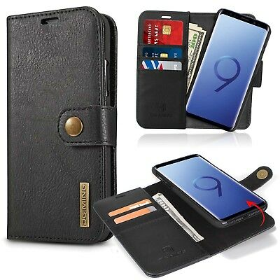Samsung Galaxy S9/S9+ Plus Removable Leather Wallet Magnet Card Flip Cover Case
