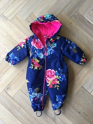 75feebde2 Joules Baby Girl Cosy Floral Waterproof Snowsuit/All in one - Brand new