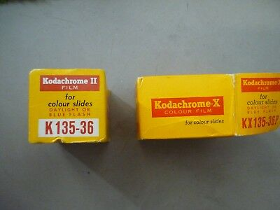 KODAK 1960's Slide Film with original boxes, cannisters