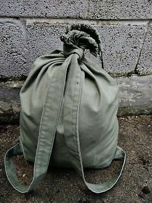 Backpack Rucksack vintage retro military army green canvas bag history unique