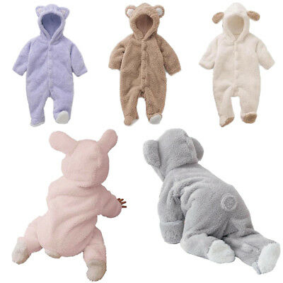 Jumpsuit Body suit Newborn Baby Boy Girl Romper Hooded Outfits Clothes New