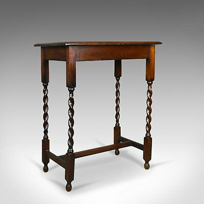 Antique Side Table, English, Oak, Edwardian, Circa 1910
