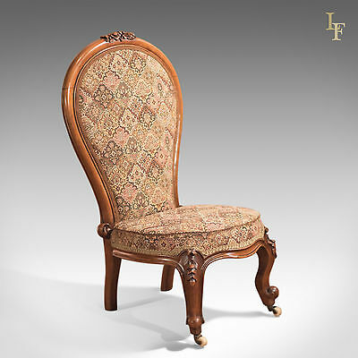 Antique Chair, Regency, Salon, Nursing, Bedroom Furniture, English Walnut c.1820