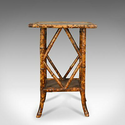 Antique Bamboo Table, Occasional, Side, Oriental, Victorian Circa 1900