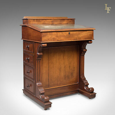 Antique Davenport, English, Victorian Writing Desk, Mahogany, c.1870