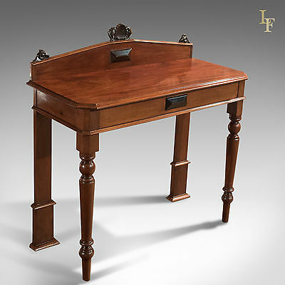 Antique Console Table, Victorian, Scottish, Hall, Mahogany, Side, Serving c.1850