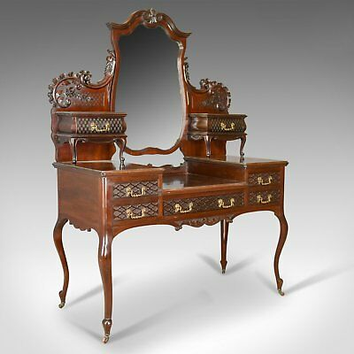 Antique Dressing Table, Mahogany, English Circa 1910