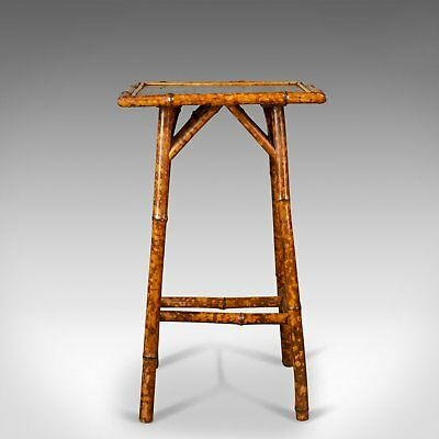 Antique Bamboo Table, Side, Occasional, Oriental, Victorian Circa 1900