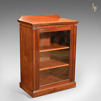Antique Display Cabinet, Victorian, Mahogany, Maritime, English, Cupboard, c1850