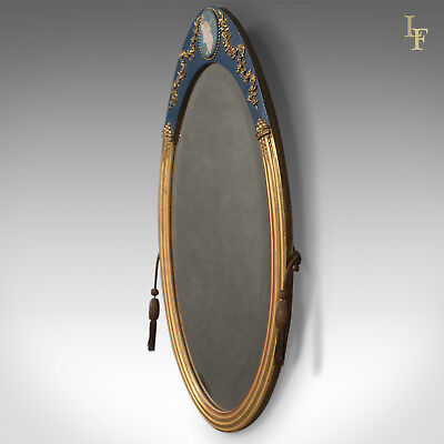 Victorian Antique Wall Mirror, Giltwood & Gesso Frame, Jasperware Plaque, c.1890