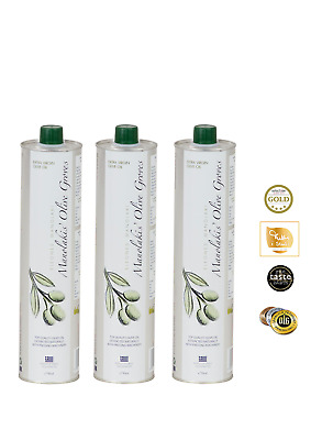 Cold Pressed Extra Virgin Olive Oil from Crete 3 x 750 ML