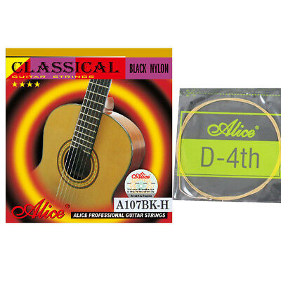 10pcs Nylon Core Gold Plated D 4th Fourth Single Classical Guitar Strings .030