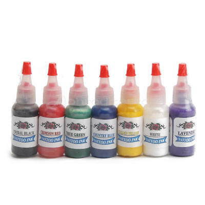 7pcs Color Tattoo Inks Pigment 15ml/bottle Sets for Body Art Tattoo Supplies New
