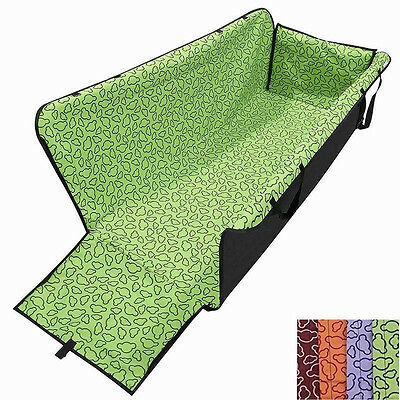 1 Waterproof Dog Cat Pet Hammock Blanket Cover Mat Rear Back Seat Car Pro loop