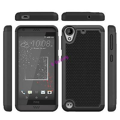 Black Case Hybrid Protective Shock Proof Cover For HTC Desire 530 / Desire 630