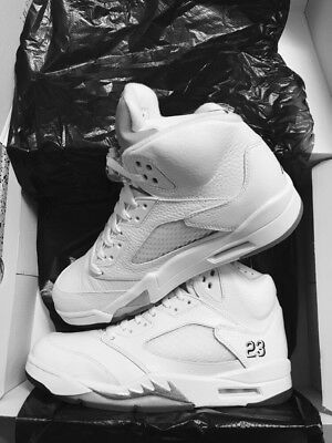 watch 9e32d 64817 Nike Air Jordan 5 Retro 2015 White Metallic Silver UK 8 BNIB DS Lot Bundle  Sneak