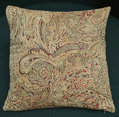 We403a Brown Damask Flower Check Chenille Throw Pillow Case//Cushion Cover*Size