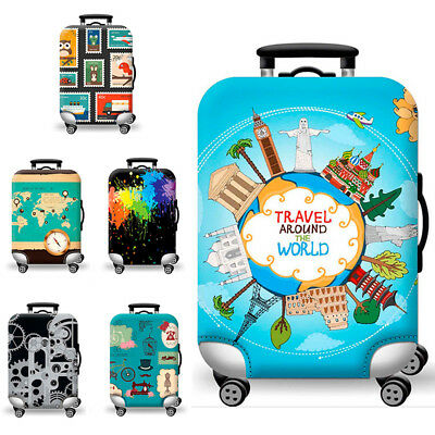 "18-32""Fashion Elastic Luggage Trolley Case Cover Suitcase Protector Travel Theme"