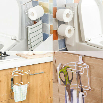 Double Toilet Paper Tissue Roll Steel Holder Bronze Bath Organizer Over The Tank