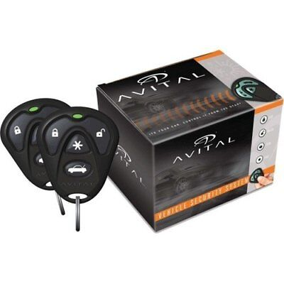 Avital 3100LX 3 Channel Security Keyless Entry System Car Alarm with Remotes NEW