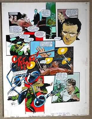 Original Comic Art of THE SIX MILLION DOLLAR MAN by Martin Asbury