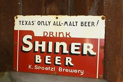 "Shiner Beer N. Spoetzl Brewery Texas Beer Replica Large 38"" x 24"""