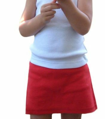 12 Little Girls Wholesale Skorts Attached Panty Brief Black Navy Red Blue Cotton