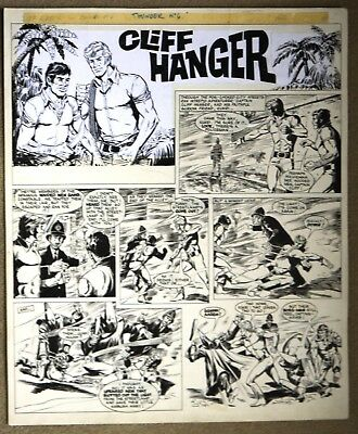 Original Comic Art of CLIFF HANGER from Thunder