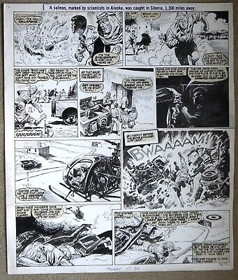 Original Comic Art of CLIFF HANGER by Eric Bradbury from Thunder