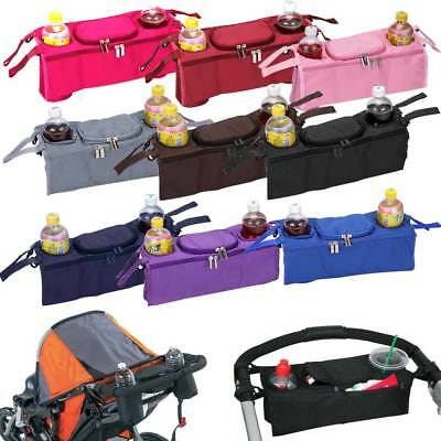 Portable Baby Stroller Organizer Cup Bottle Bag Pushchair Stroller Pram Holder