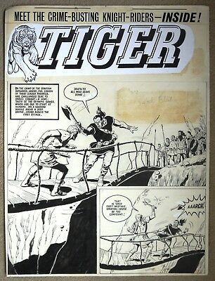Original Comic Art of OLAC THE GLADIATOR from Tiger