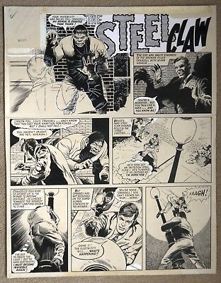 Original Comic Art of THE STEEL CLAW by Jesus Blasco