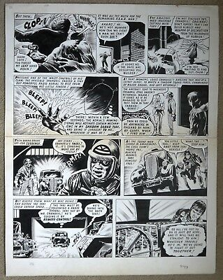 Original Comic Art of THE STEEL CLAW by M. Belardinelli