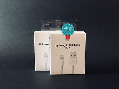 2 PACK OEM Original Lightning USB Charger Cable For Apple iPhone X 6s 7 Plus 2M