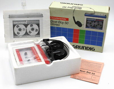 GRUNDIG BEAT-BOY 50 cassette player 1980 NEW in original box - RED version