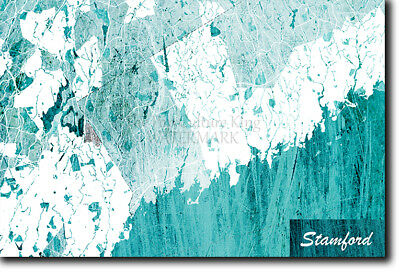 Stamford, Connecticut, USA Map Poster Art Print - Blue Stroke - Photo Gift