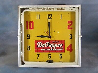 Dr Pepper Neon Clock GOOD FOR LIFE Works Great