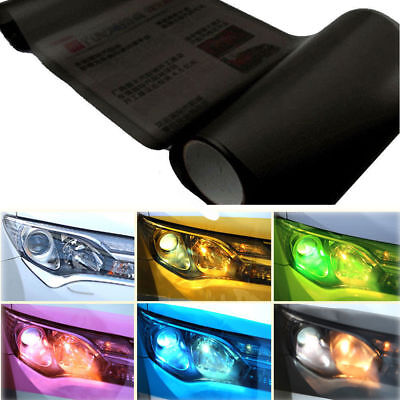 120*30CM Car Headlight Tint Films Vinyl Wrap Sticker Emblem Frosted effect Black